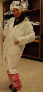 Lneya in scrubs